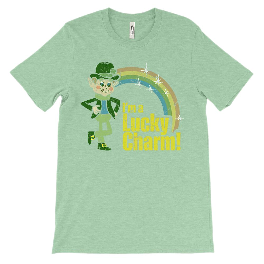 (Unisex BC 3001 Soft Tee) I'm a Lucky Charm! St. Patrick's Day Parody Graphic T-Shirt Tee BOXELS