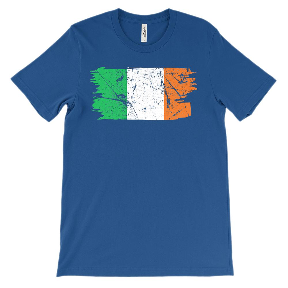 (Unisex BC 3001 Soft Tee) Irish Flag Grunge Graphic T-Shirt Tee BOXELS