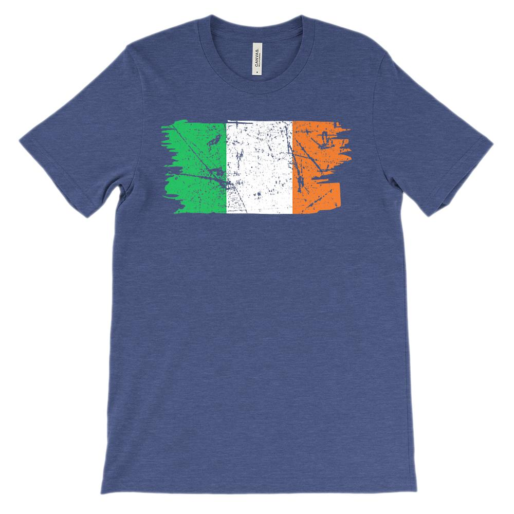 (Unisex BC 3001 Soft Tee) Irish Flag Grunge