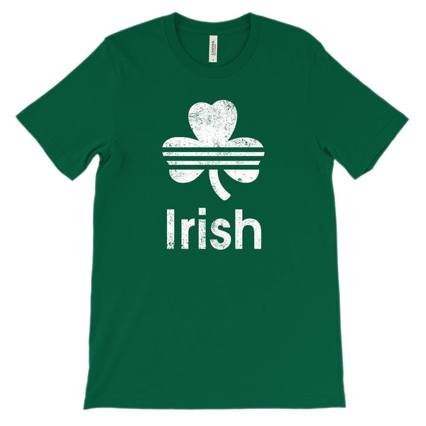 (Unisex BC 3001 Soft Tee) Irish (white) Graphic T-Shirt Tee BOXELS