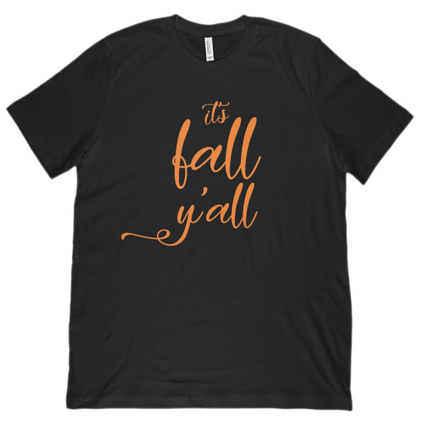 (Unisex BC 3001 Soft Tee) It's Fall y'all Autumn Harvest Graphic T-Shirt Tee BOXELS