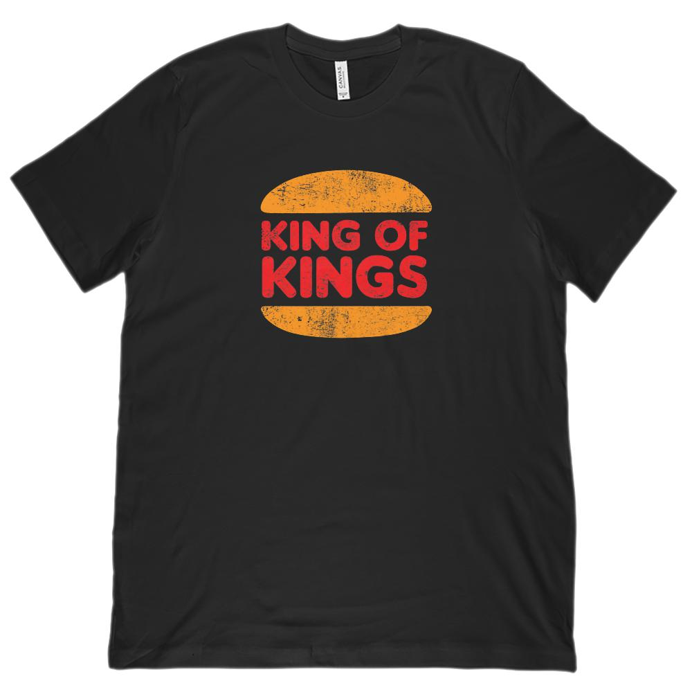 (Unisex BC 3001 Soft Tee) King of Kings Burger Parody Christian Gospel