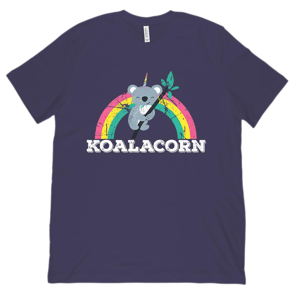 (Unisex BC 3001 Soft Tee) Koalacorn Rainbow Tree Kawaii Unicorn Koala