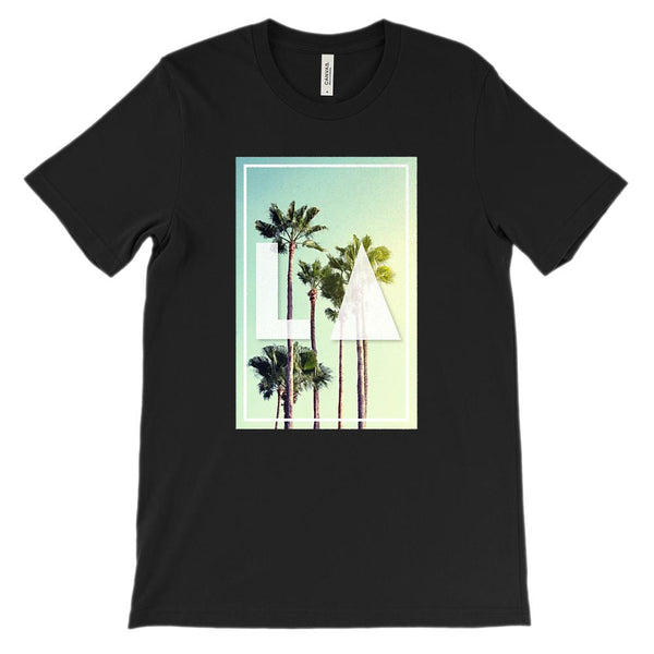 (Unisex BC 3001 Soft Tee) LA Palm Cali Photo Graphic T-Shirt Tee BOXELS