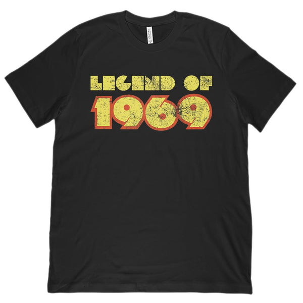 (Unisex BC 3001 Soft Tee) Legend of 1969 - Made in Year Graphic T-Shirt Tee BOXELS