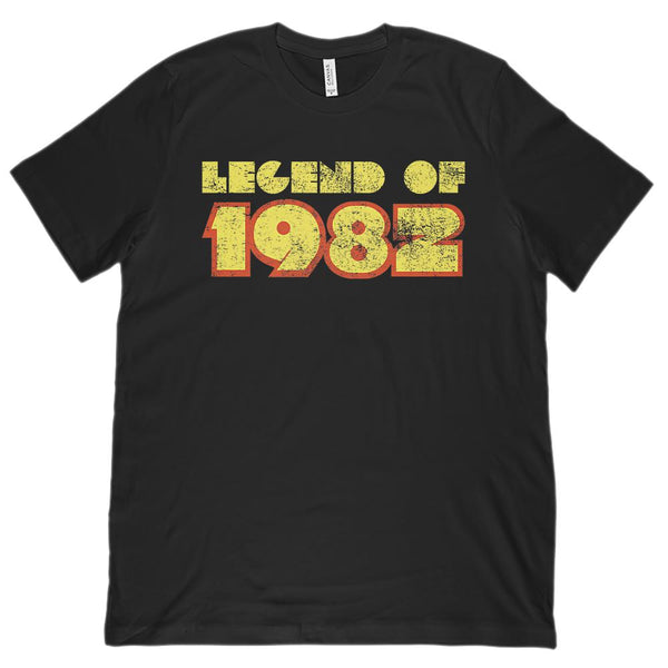 (Unisex BC 3001 Soft Tee) Legend of 1982 - Made in Year Graphic T-Shirt Tee BOXELS