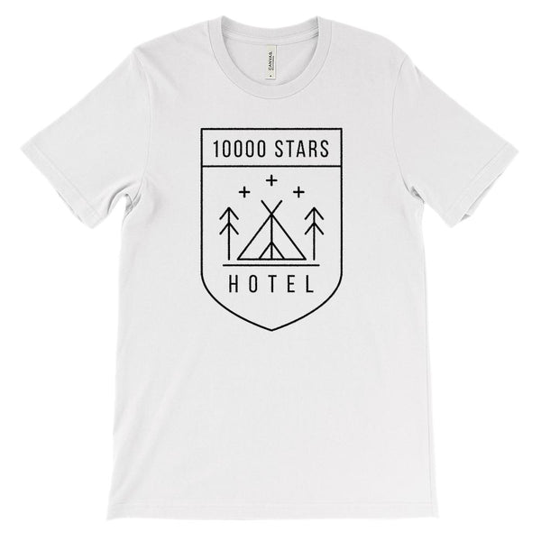 (Unisex BC 3001 Soft Tee - Lights) 10,000 Stars Hotel Graphic T-Shirt Tee BOXELS