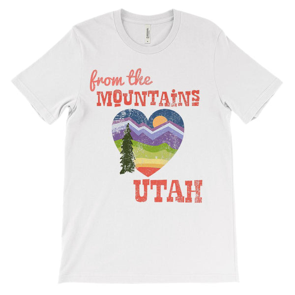 (Unisex BC 3001 Soft Tee Lights) From the Mountains of Utah Graphic T-Shirt Tee BOXELS