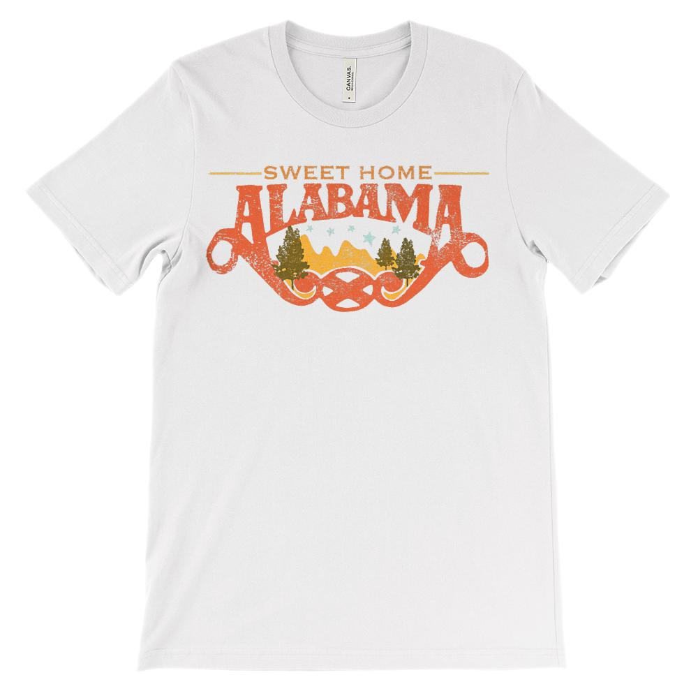 (Unisex BC 3001 Soft Tee - Lights) Iconic State - Sweet home Alabama AL Graphic T-Shirt Tee BOXELS