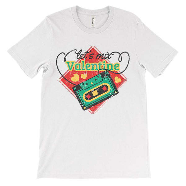 (Unisex BC 3001 Soft Tee - Lights) Let's Mix Valentine Tape Graphic T-Shirt Tee BOXELS