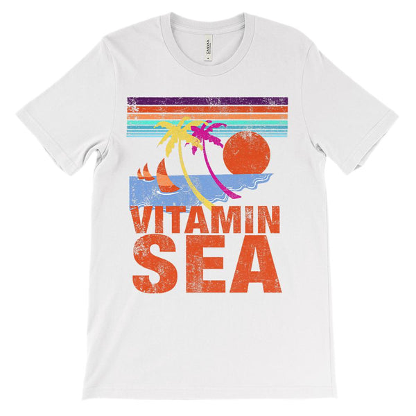 (Unisex BC 3001 Soft Tee - Lights) Vitamin Sea Orange Graphic T-Shirt Tee BOXELS