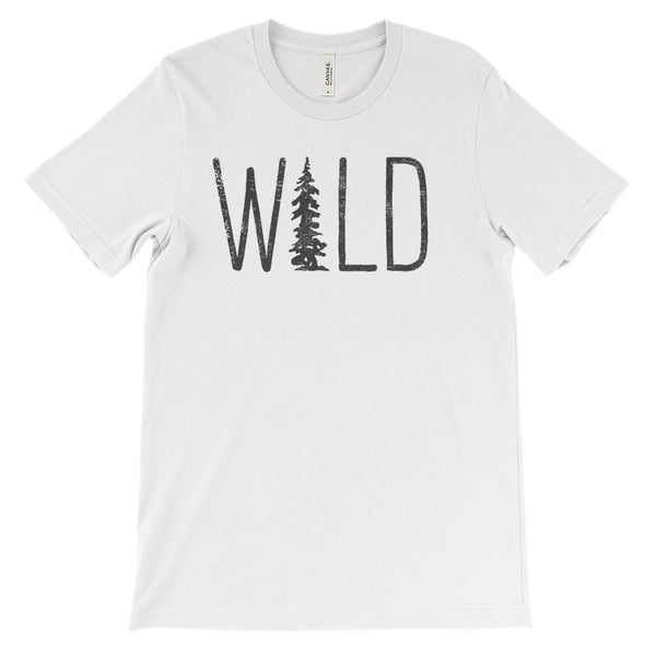 (Unisex BC 3001 Soft Tee - Lights) Wild Tree (dark font) Graphic T-Shirt Tee BOXELS