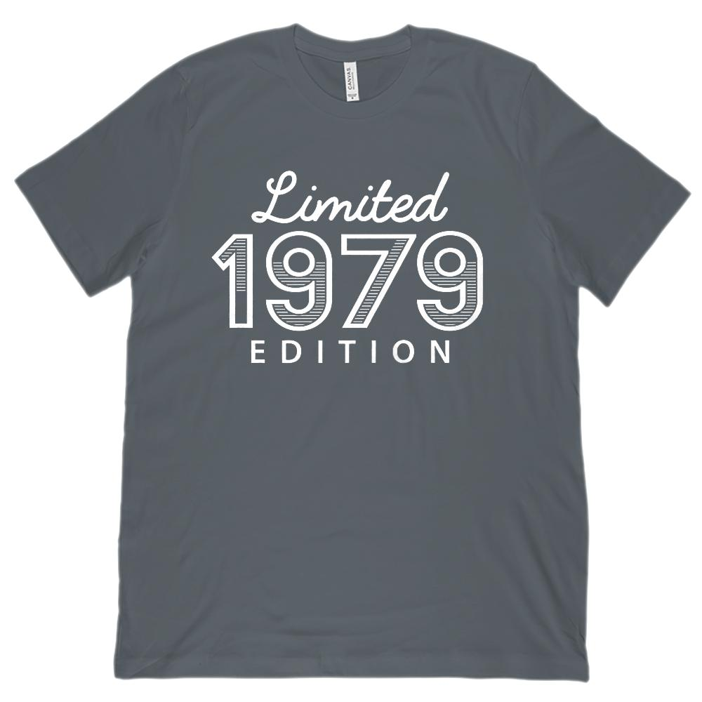 (Unisex BC 3001 Soft Tee) Limited 1979 Striped Edition - Made in Year Graphic T-Shirt Tee BOXELS