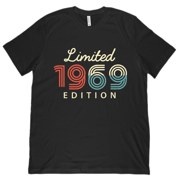 (Unisex BC 3001 Soft Tee) Limited Edition 1969 - Made in the Year Graphic T-Shirt Tee BOXELS