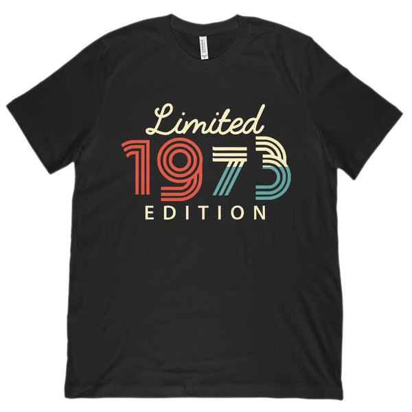 (Unisex BC 3001 Soft Tee) Limited Edition 1973 - Made in the Year Graphic T-Shirt Tee BOXELS