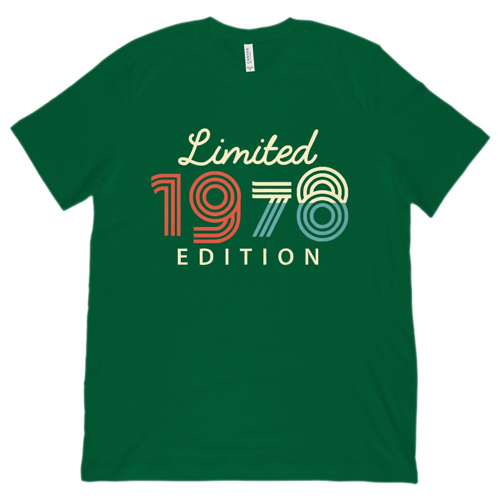 (Unisex BC 3001 Soft Tee) Limited Edition 1978 - Made in the Year Graphic T-Shirt Tee BOXELS