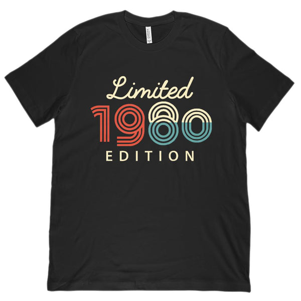 (Unisex BC 3001 Soft Tee) Limited Edition 1980 - Made in the Year Graphic T-Shirt Tee BOXELS