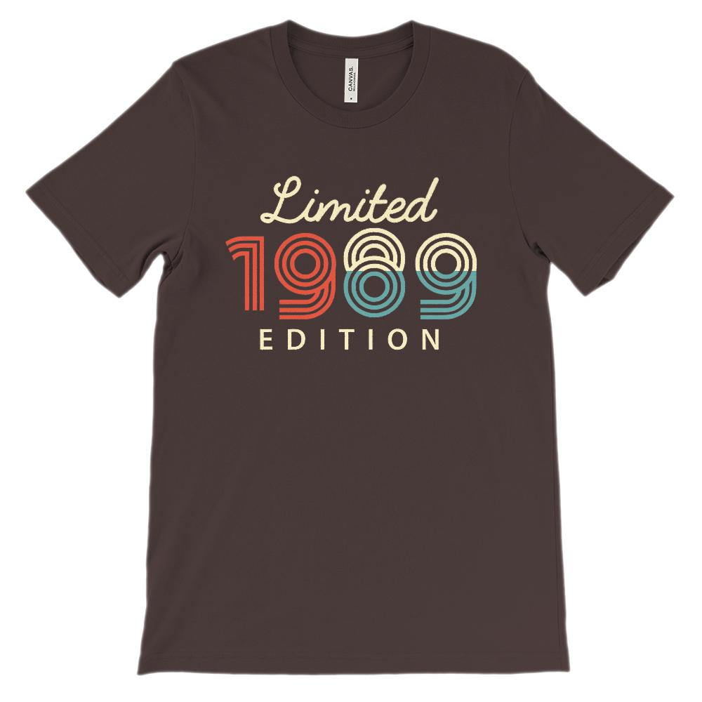 (Unisex BC 3001 Soft Tee) Limited Edition 1989 - Made in the Year Graphic T-Shirt Tee BOXELS