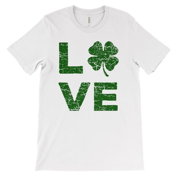 (Unisex BC 3001 Soft Tee) Love Clover (Green) Graphic T-Shirt Tee BOXELS