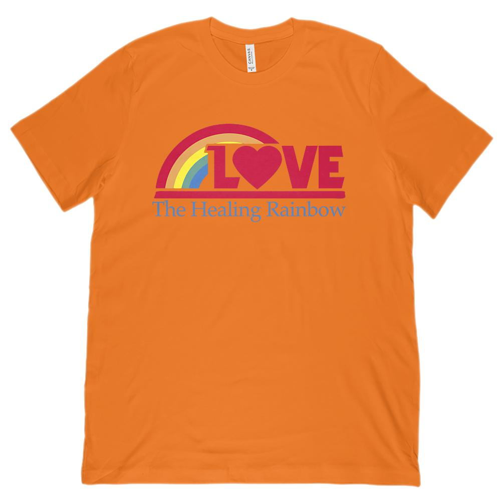(Unisex BC 3001 Soft Tee) Love Healing Rainbow Graphic T-Shirt Tee BOXELS