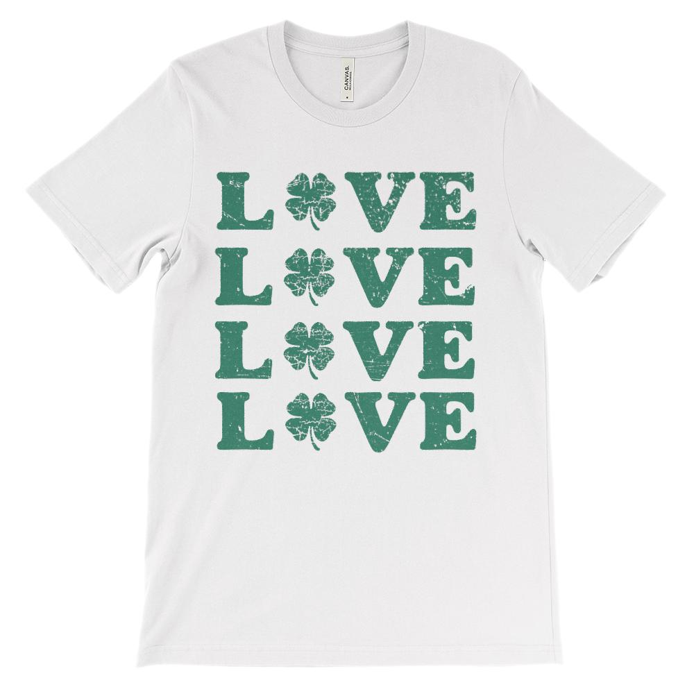 (Unisex BC 3001 Soft Tee) Love x 4 Clover (green)