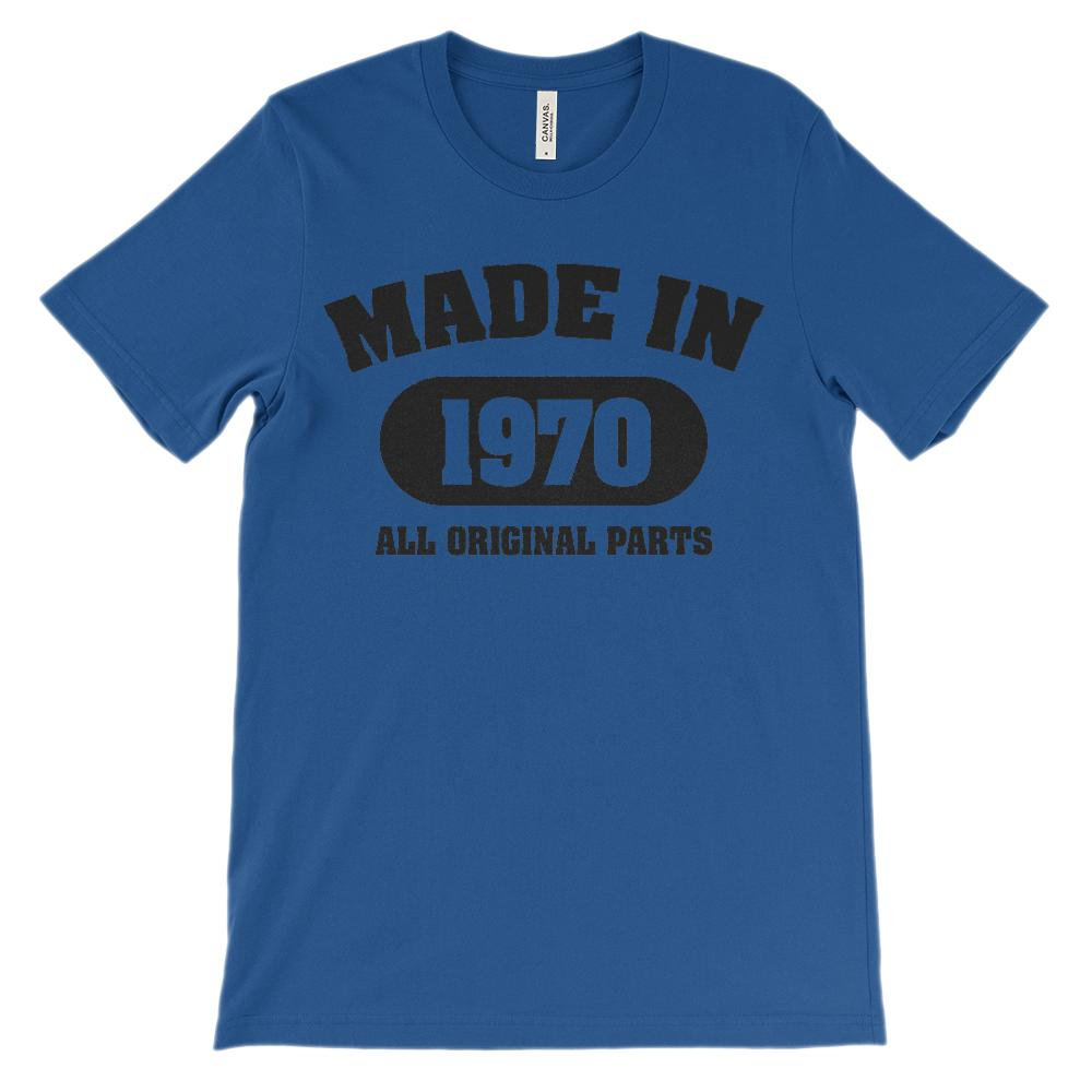 (Unisex BC 3001 Soft Tee) Made in 1970 All Original parts (black) Graphic T-Shirt Tee BOXELS