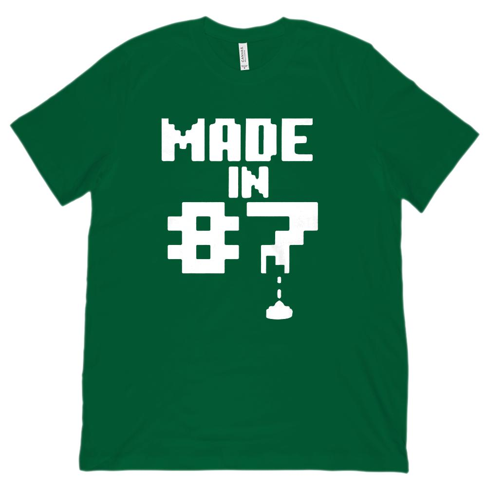 (Unisex BC 3001 Soft Tee) Made In 1987 Gamer Pixel Year Graphic T-Shirt Tee BOXELS