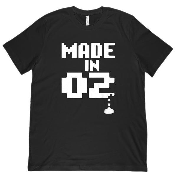 (Unisex BC 3001 Soft Tee) Made In 2002 Gamer Pixel Year Graphic T-Shirt Tee BOXELS
