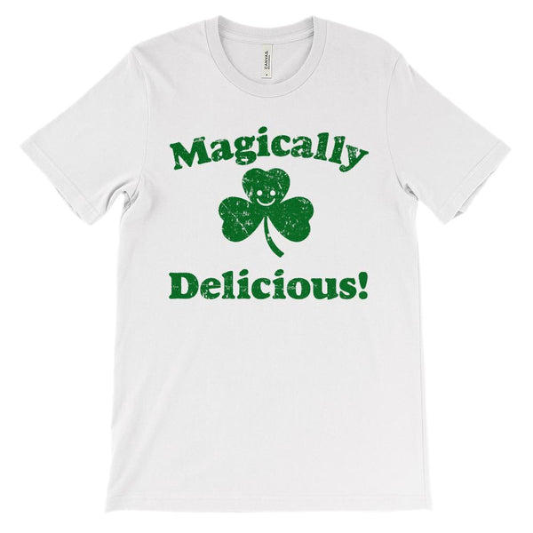 (Unisex BC 3001 Soft Tee) Magically Delicious St. Patrick's Day (Green) Graphic T-Shirt Tee BOXELS
