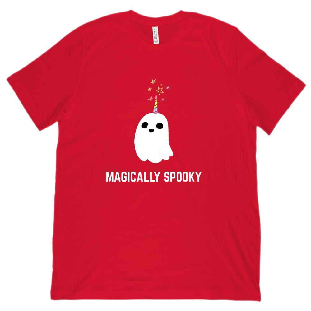 (Unisex BC 3001 Soft Tee) Magically Spooky Ghost Halloween Graphic T-Shirt Tee BOXELS