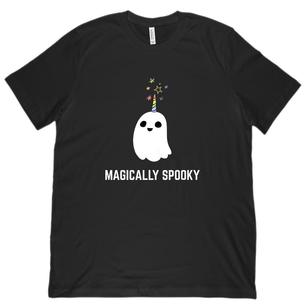 (Unisex BC 3001 Soft Tee) Magically Spooky Ghost  Halloween