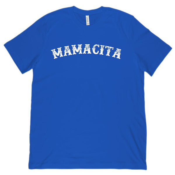 (Unisex BC 3001 Soft Tee) Mamacita Mom Mother Pregnancy Announcement (white) Graphic T-Shirt Tee BOXELS