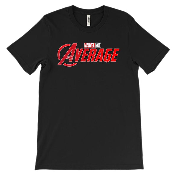 (Unisex BC 3001 Soft Tee) Marvel Not, I am Average Parody Graphic T-Shirt Tee BOXELS