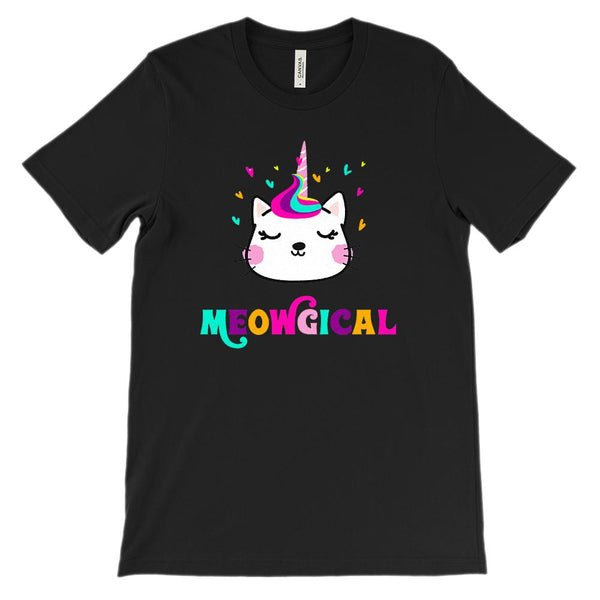 (Unisex BC 3001 Soft Tee) Meowgical unikitty, unicat, Magical Graphic T-Shirt Tee BOXELS