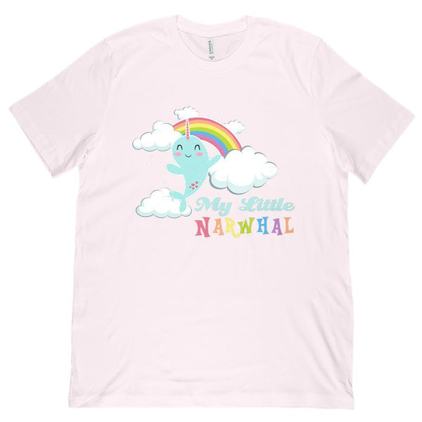 (Unisex BC 3001 Soft Tee) My Little Narwhal Pony Parody Graphic T-Shirt Tee BOXELS