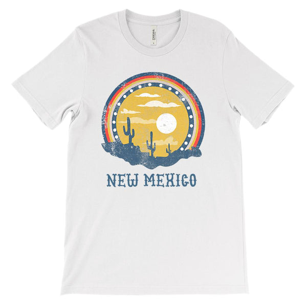 (Unisex BC 3001 Soft Tee) New Mexico Sunset Graphic T-Shirt Tee BOXELS