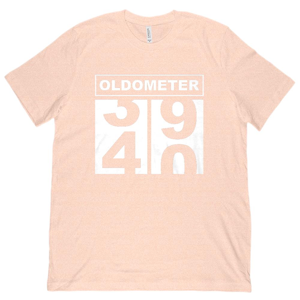 8411e5dd (Unisex BC 3001 Soft Tee) Oldometer (odometer) 40 Years Old Graphic T