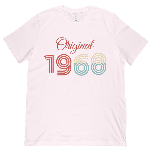 (Unisex BC 3001 Soft Tee) Original 1968 - Made in the Year Graphic T-Shirt Tee BOXELS