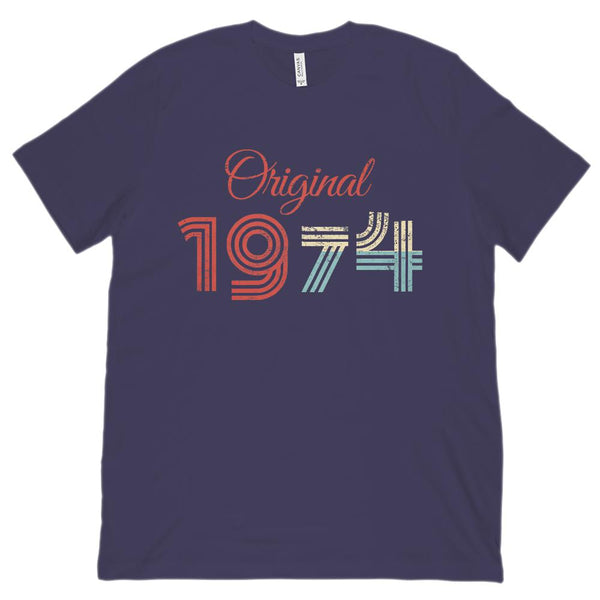 (Unisex BC 3001 Soft Tee) Original 1974 - Made in the Year Graphic T-Shirt Tee BOXELS