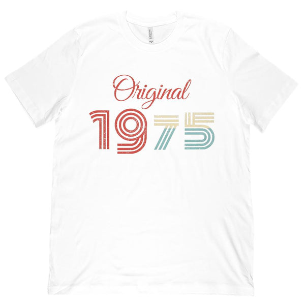 (Unisex BC 3001 Soft Tee) Original 1975 - Made in the Year Graphic T-Shirt Tee BOXELS