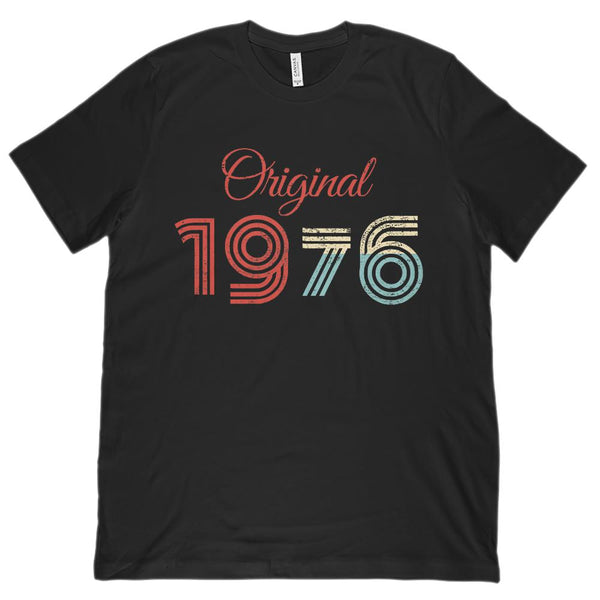 (Unisex BC 3001 Soft Tee) Original 1976 - Made in the Year Graphic T-Shirt Tee BOXELS