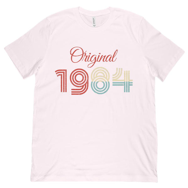 (Unisex BC 3001 Soft Tee) Original 1984 - Made in the Year Graphic T-Shirt Tee BOXELS