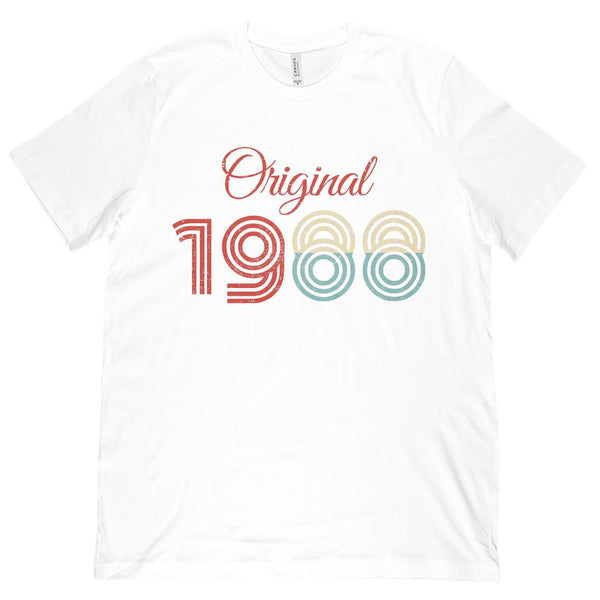 (Unisex BC 3001 Soft Tee) Original 1988 - Made in the Year Graphic T-Shirt Tee BOXELS