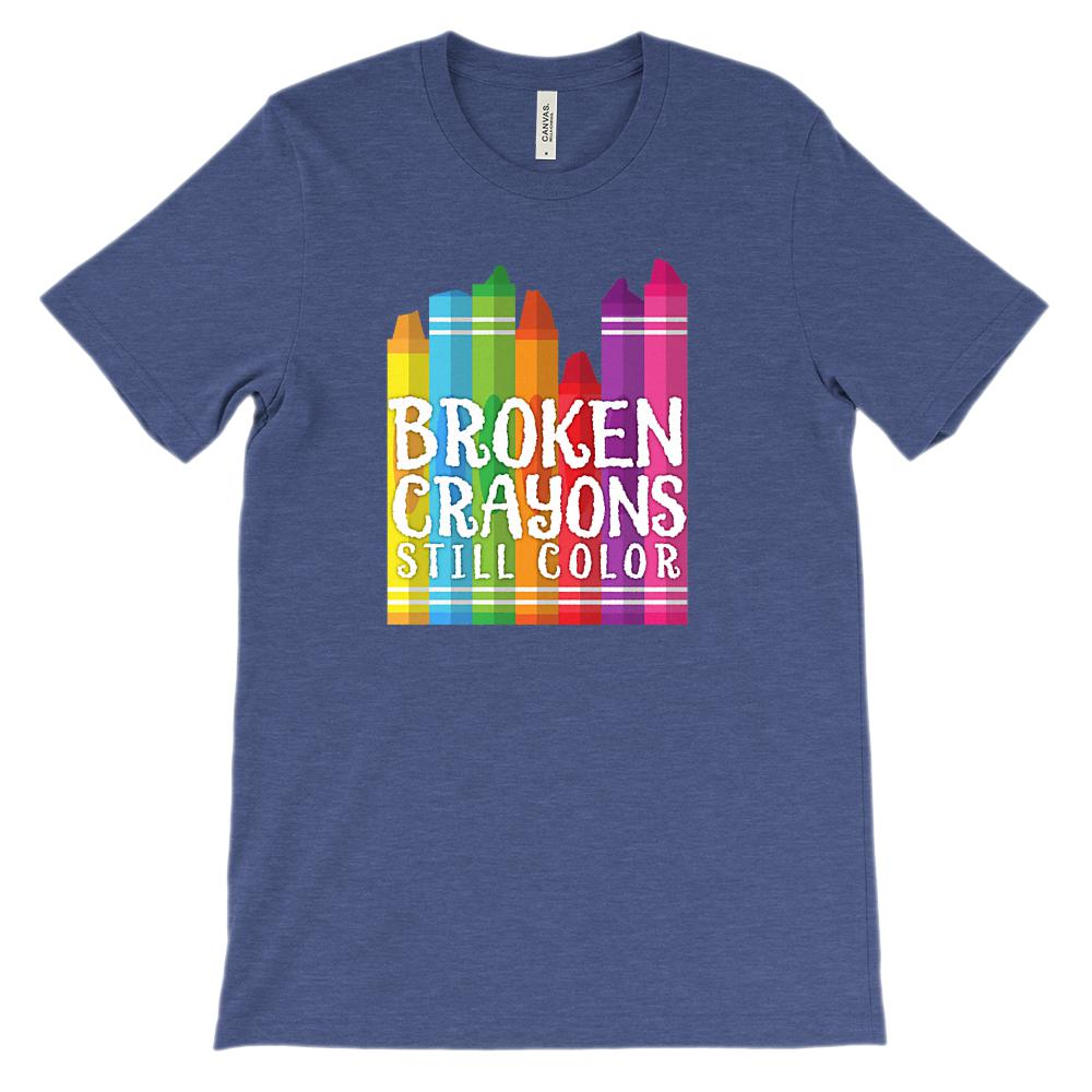 (Unisex BC 3001 Soft Tee - Other Colors) Broken Crayons Still Color