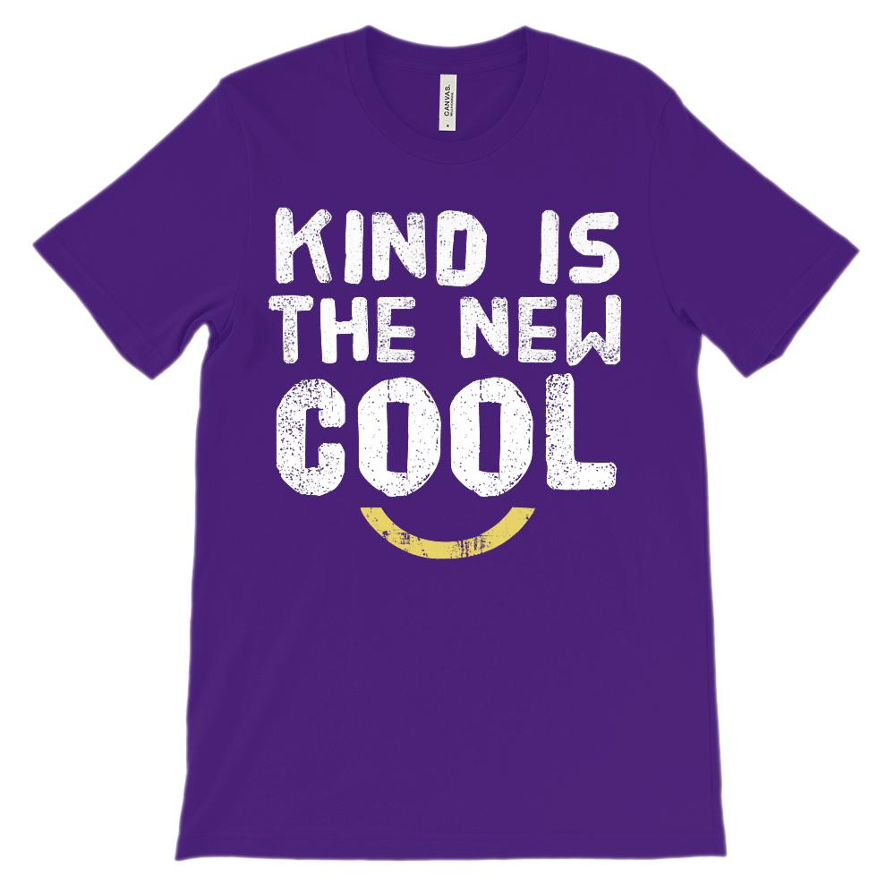 (Unisex BC 3001 Soft Tee - other colors) Kind is the New Cool Graphic T-Shirt Tee BOXELS