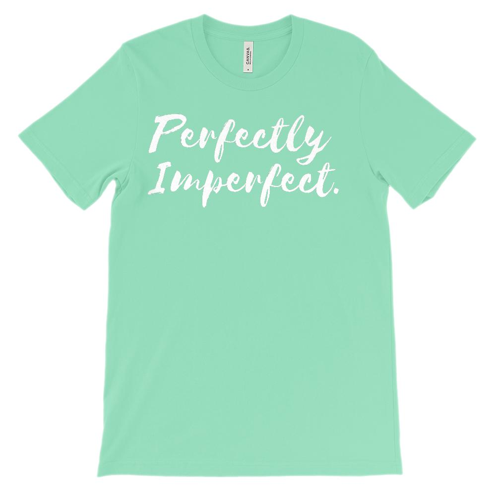 (Unisex BC 3001 Soft Tee - Other Colors) Perfectly Imperfect. Graphic T-Shirt Tee BOXELS