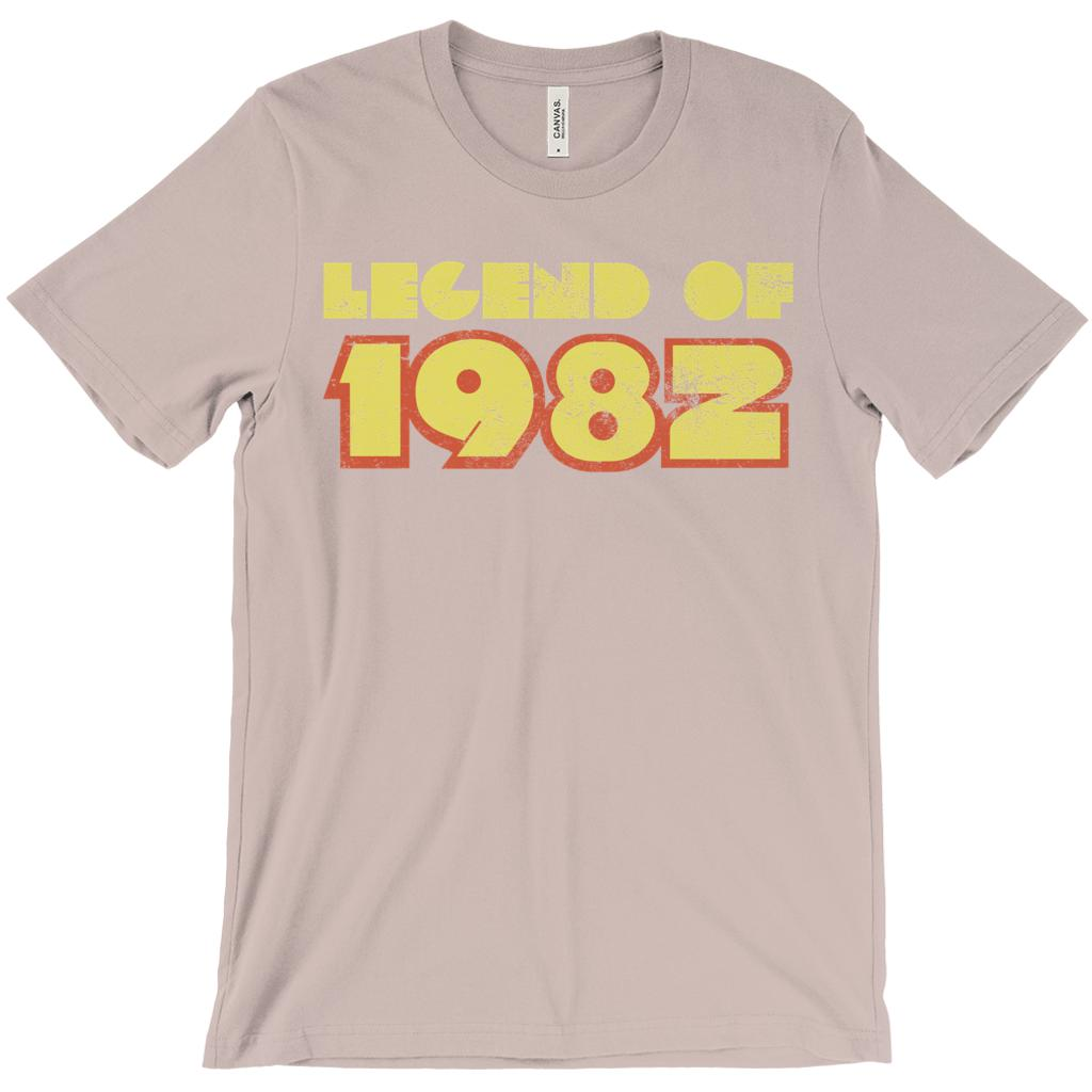 (Unisex BC 3001 Soft Tee - Other Trendy Colors) Legend of 1982 - Made in Year Graphic T-Shirt Tee BOXELS
