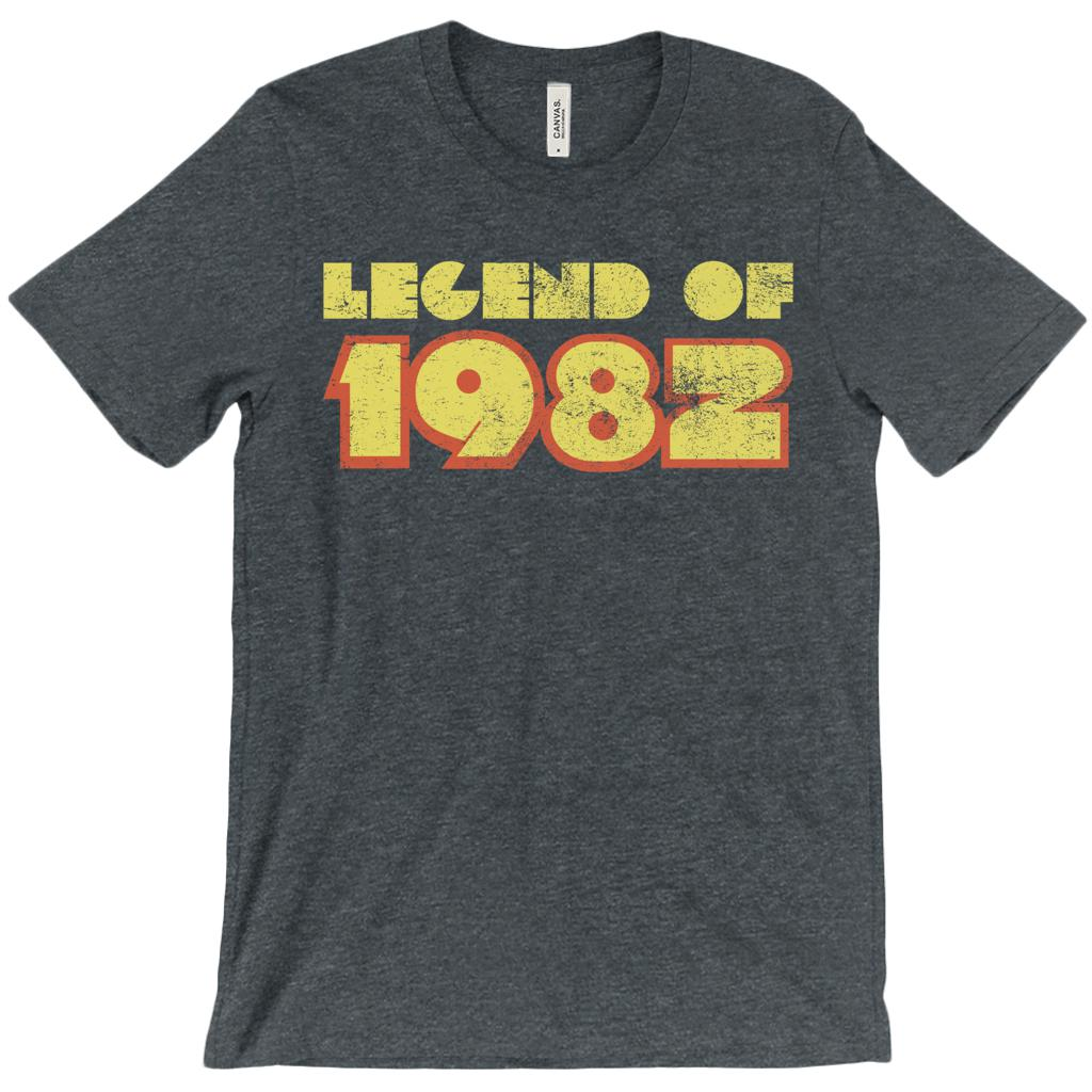 (Unisex BC 3001 Soft Tee - Other Trendy Colors) Legend of 1982 - Made in Year