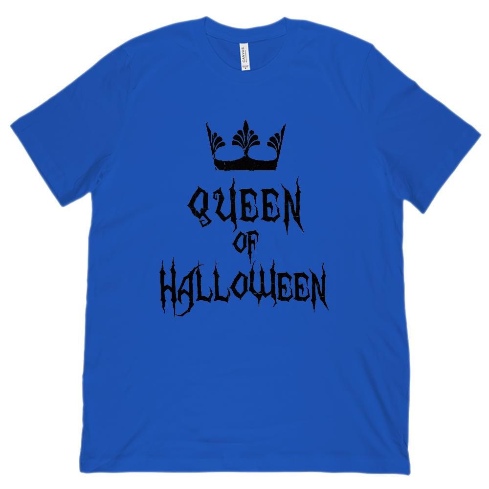 (Unisex BC 3001 Soft Tee) Queen of Halloween Crown Graphic T-Shirt Tee BOXELS