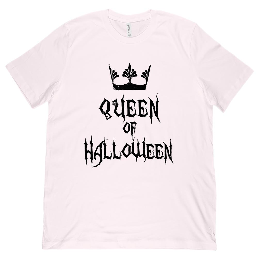 (Unisex BC 3001 Soft Tee) Queen of Halloween Crown